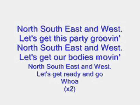 North South East and west lyrics.wmv