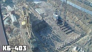 Minora bir crane o'rnatish KB-403