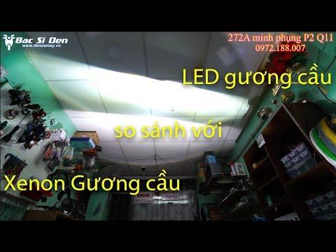 So sánh Xenon Gương cầu VS LED Gương cầu: chọn loại nào ok?