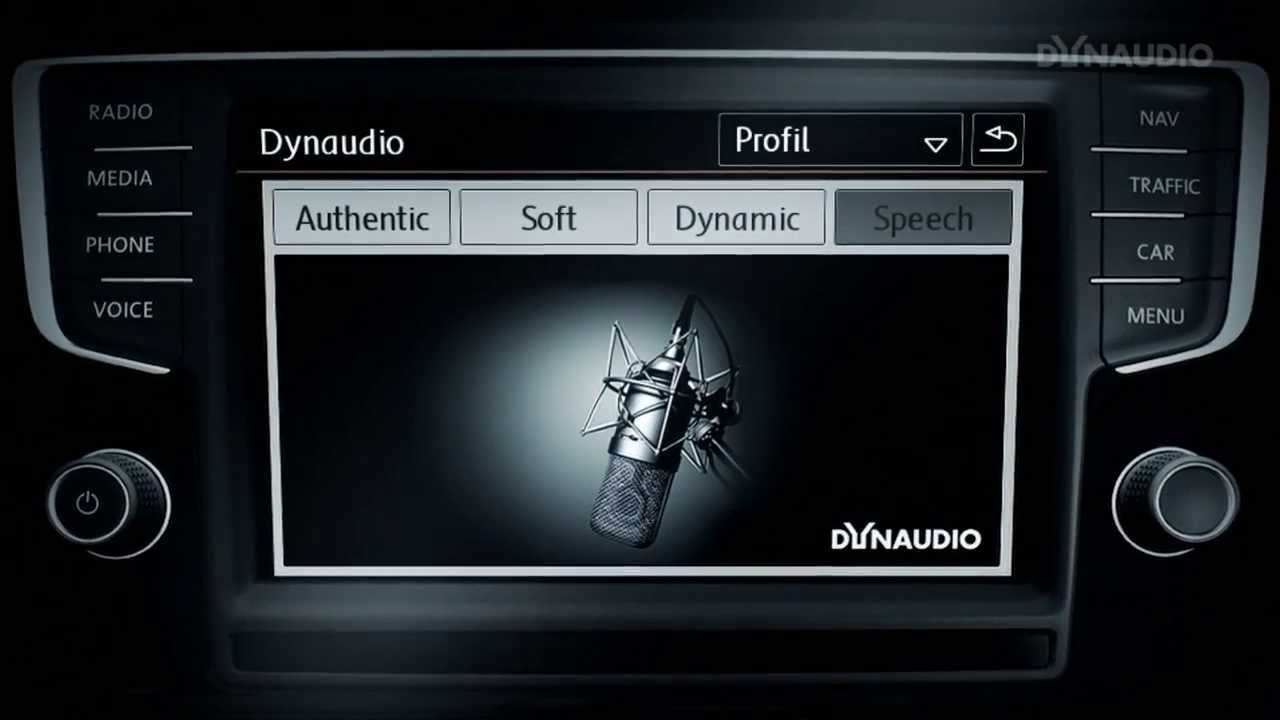 dynaudio excite sound system volkswagen golf 7 youtube. Black Bedroom Furniture Sets. Home Design Ideas