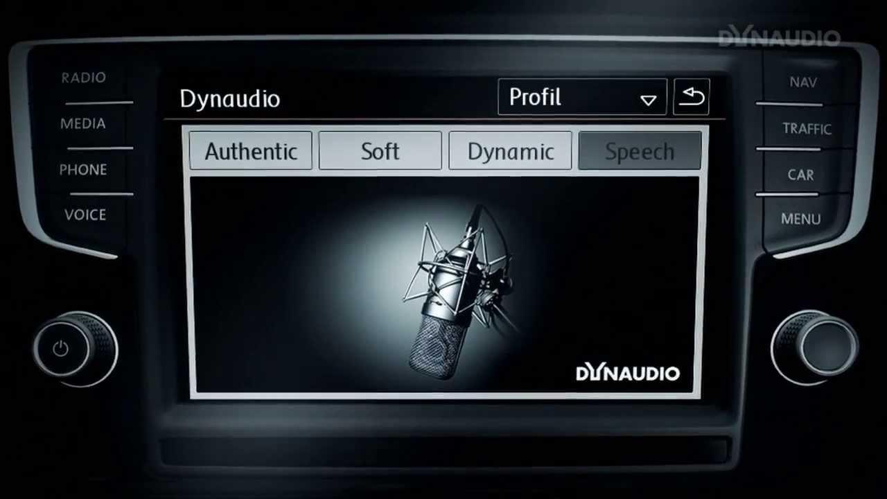 dynaudio excite sound system volkswagen golf 7 youtube. Black Bedroom Furniture Sets. Home Design Ideas