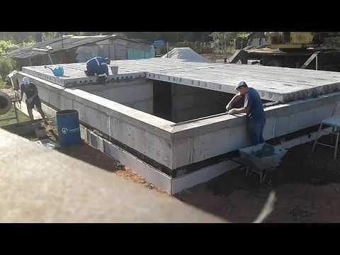 Монтаж железобетонных конструкций (поэтапный)