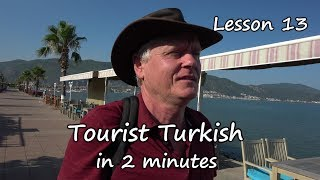 Turkish in 2 minutes  Lesson 13