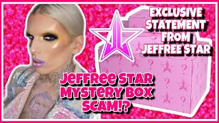 Jeffree Star Mystery Box Scam?? EXCLUSIVE STATEMENT From Jeffree Star ⭐️