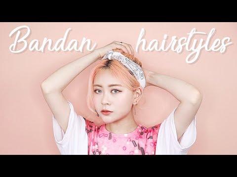 쉽게-예쁘게-반다나-묶는법-3가지-|-3-easy-bandan-hairstyles|eunbi