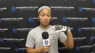Kiana Smith is pumped up for WolfPack softball
