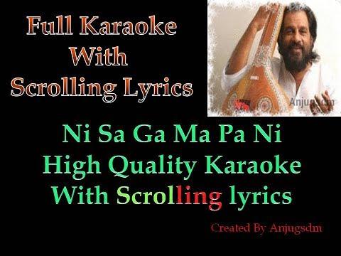 Ni Sa Ga Ma Pa Ni    Karaoke with scrolling lyrics (High Quality)    Anand Mahal 1977   