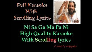 Ni Sa Ga Ma Pa Ni || Karaoke with scrolling lyrics (High Quality) || Anand Mahal 1977 ||