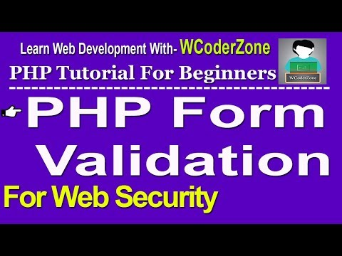 HTML Form Validation Using Php – For Website Security English