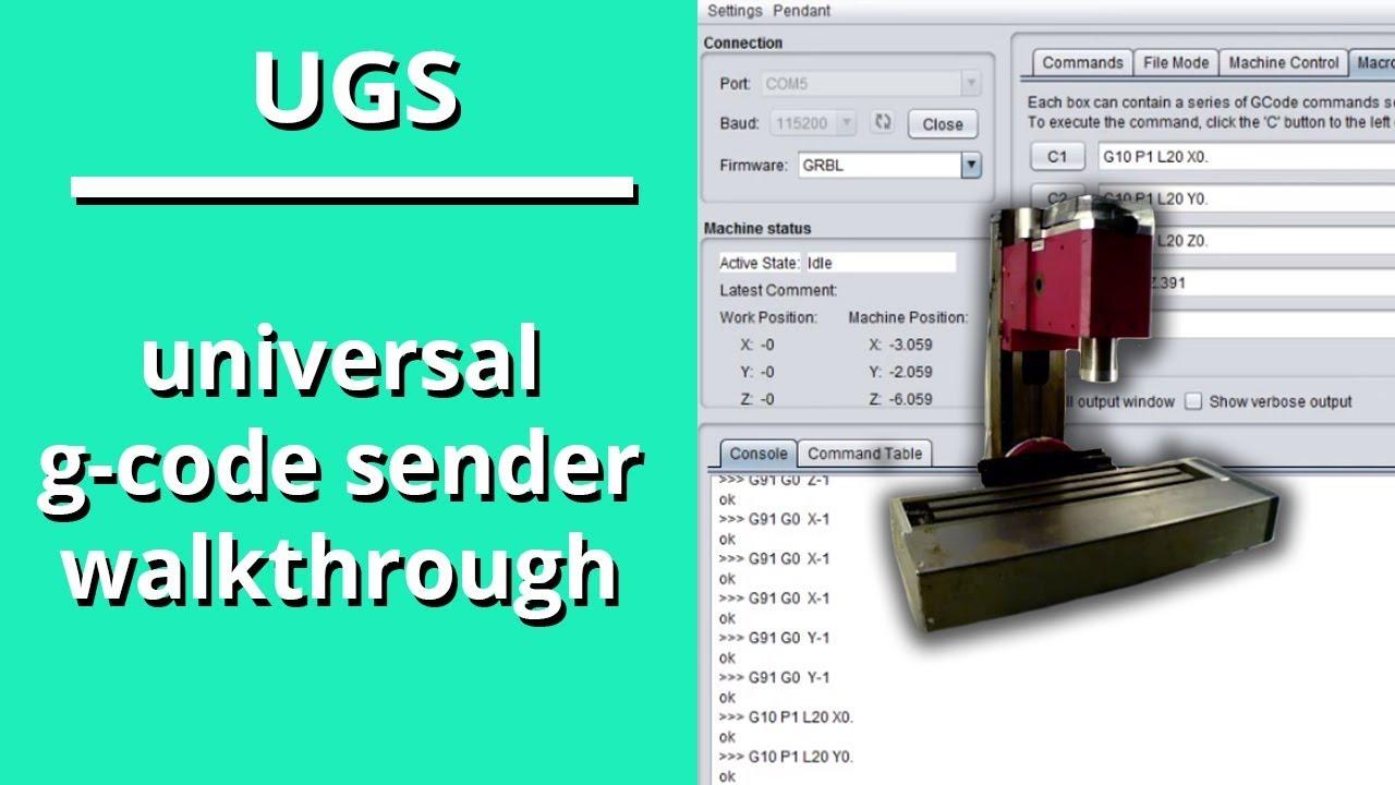 Universal G-Code Sender Walk Through HX8410 CNC Milling Machine