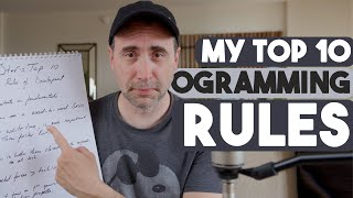 Stef's Top 10 Programming Rules - MUST LEARN!!