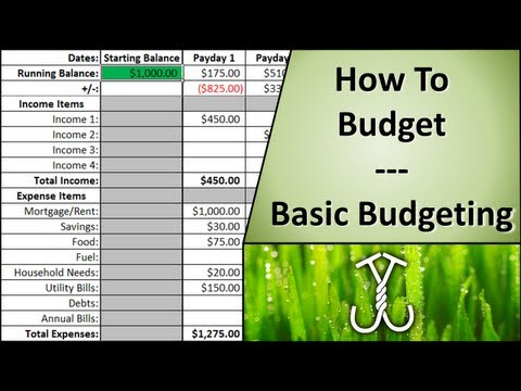 How to Budget - Basic Budgeting