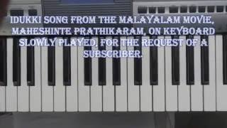 maheshinte prathikaram, idukki on keyboard slowly played.