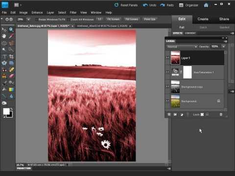 Jak uzyskać efekt filtra podczerwieni w PS Elements [tutorial]