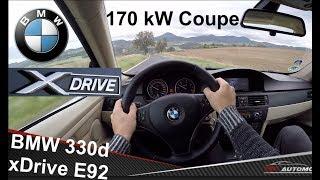 BMW 330d xDrive (E92) POV Test Drive + Acceleration 0 - 200 km/h