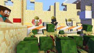 Monstruo de la Escuela : APOCALIPSIS ZOMBIE CS:GO RETO - Minecraft Animation