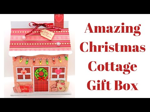 Christmas Cottage Gift Box or Storage Box | Original Design