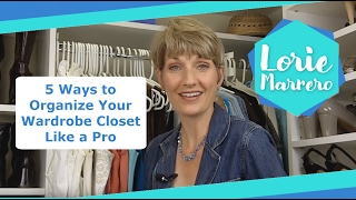 5 Ways To Organize Your Wardrobe Closet Like A Pro | Clutter Video Tip