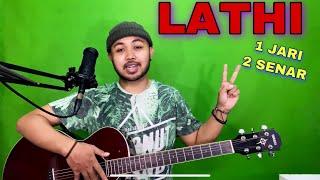 Download lagu Tutorial Melodi (LATHI - WEIRD GENIUS) cuman pake 1 JARI 1 SENAR (Gitar)