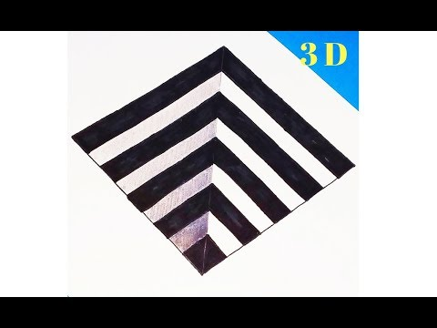 3D HOLE DRAWING|| EASY 3D ART || ILLUSION DRAWING||| HOW TO DRAW 3D SQUARE STEP BY STEP