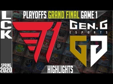 T1 vs GEN Highlights Game 1 | LCK Spring 2020 Playoffs GRAND FINAL | T1 vs Gen.G G1