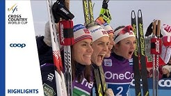 Highlights   Norway I secures victory   Beitostølen   Ladies' Relay   FIS Cross Country