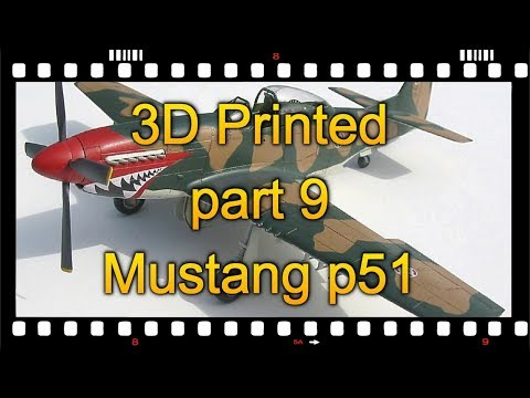 PART 9/10. 3D printed Mustang p51 in Fusion 360, part 9