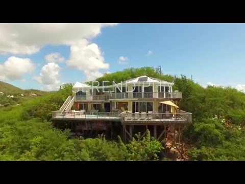 Droning Villa Serendipity -Real Estate in St. John, Virgin Islands