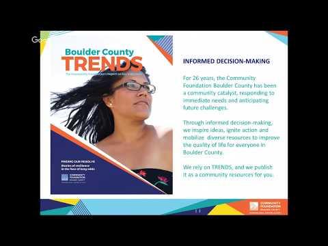2017 Boulder County TRENDS Report Presentation