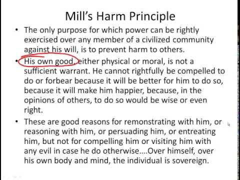 exploring john mills harm principle essay