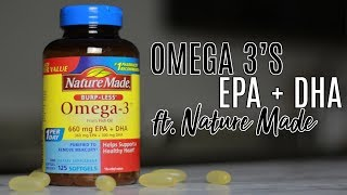 All About Nature Made's New EPA + DHA and Omega 3's