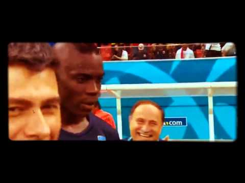 Mario Balotelli Reaction after beat England Italy vs England 2 1 World CUp2014