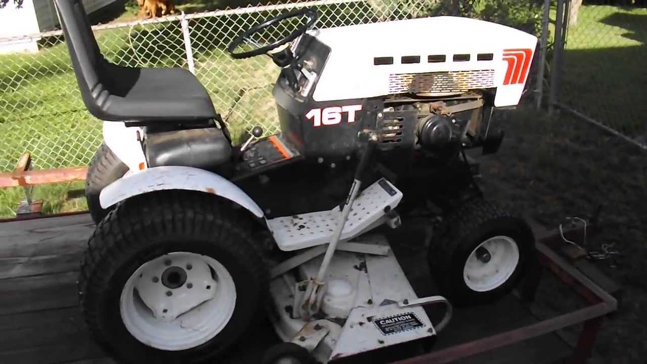 Roper Lawn Tractors And Garden : Roper t warm start youtube