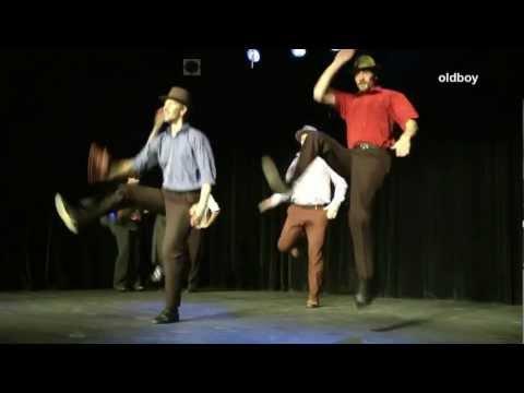 Romanian Gypsy man dances