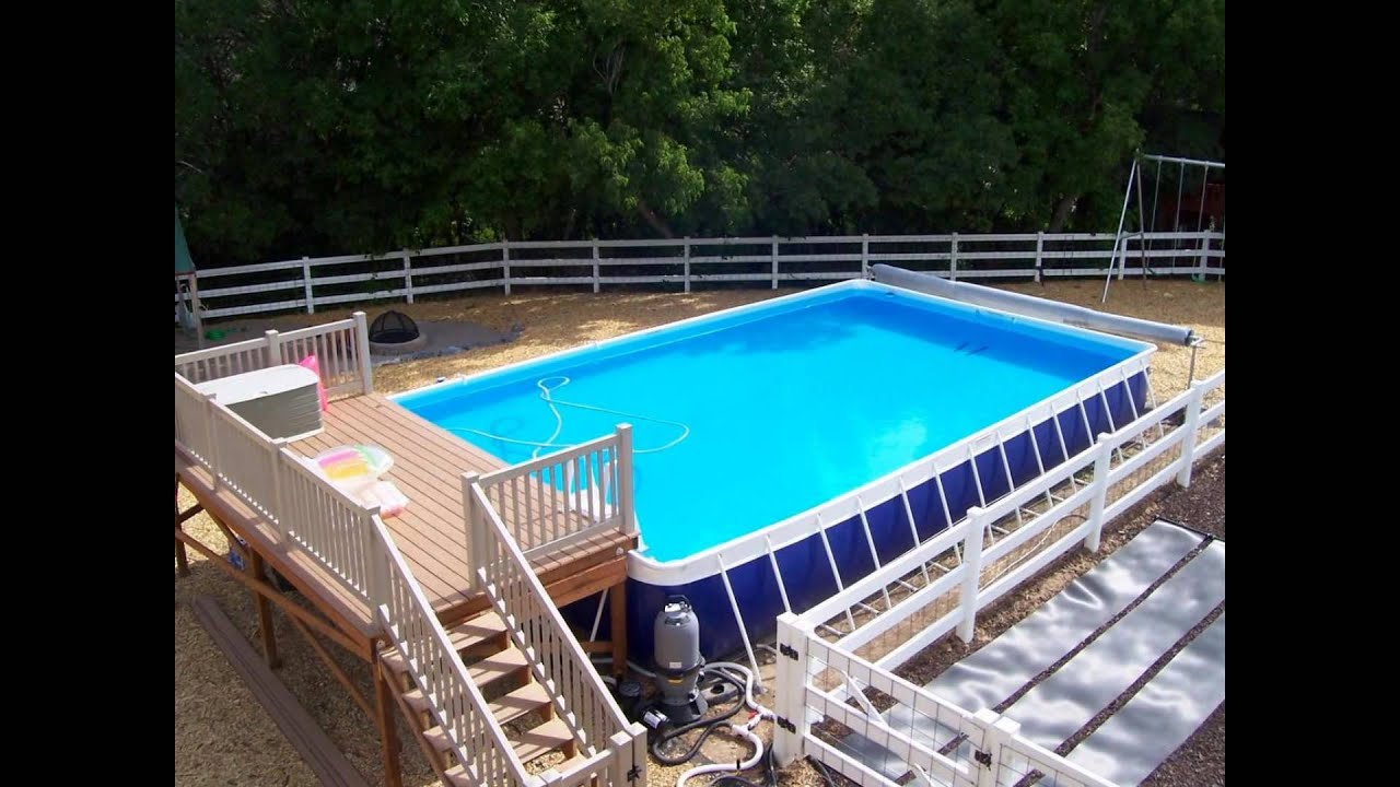 Swimming Pool Deck Designs Inspiration Pool Deck Designs  Above Ground Pool Deck Designs  Youtube