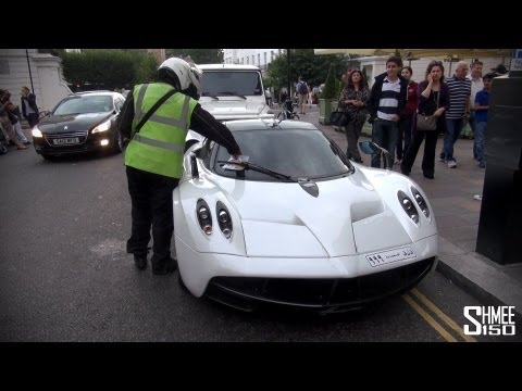 TICKETED: Arab Pagani Huayra and Mercedes G65 AMG in London