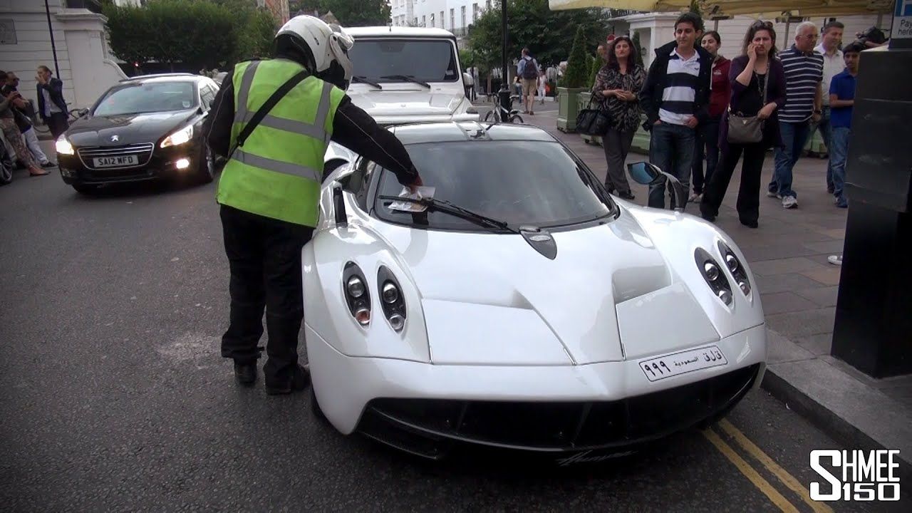 ticketed arab pagani huayra and mercedes g65 amg in london youtube