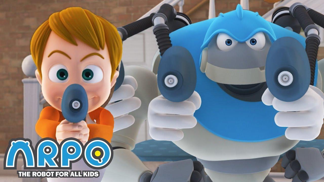 Joey the Mischievious PRANKSTER! - ARPO the Robot | 에피소드를보고 | Cartoons for Kids | Robot Animation