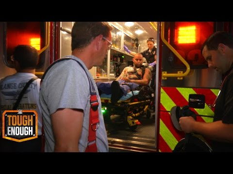 A Tough Enough finalist leaves the tryout in an ambulance - WWE #ToughEnough
