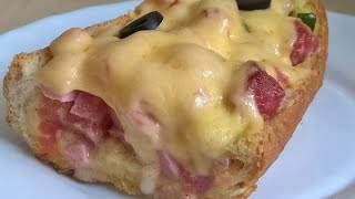 Батон-пицца! Батон с начинкой. Багет фаршированный. Пицца в батоне.