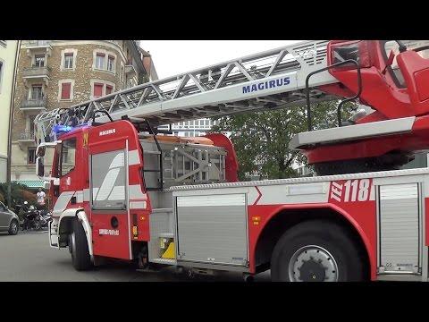 Pompiers Genève échelle 24 // Ladder 24 Geneva