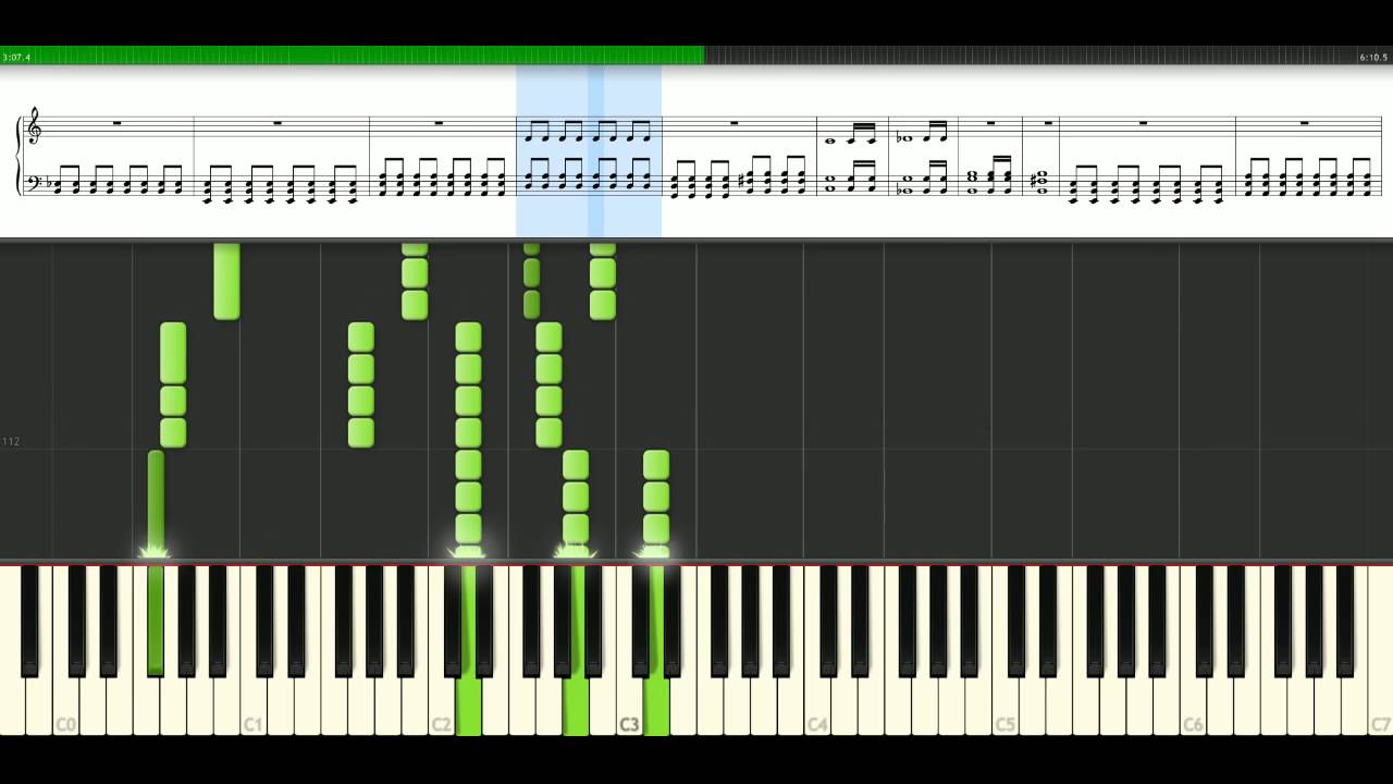 Muse New Born Piano Tutorial Synthesia