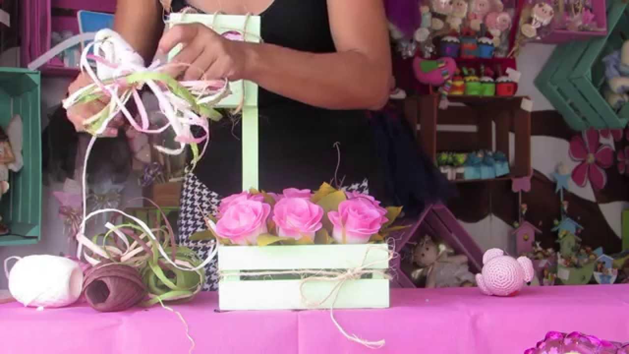 Baby Shower Centros De Mesa Niña ~ Centro de mesa baby shower ni�a youtube