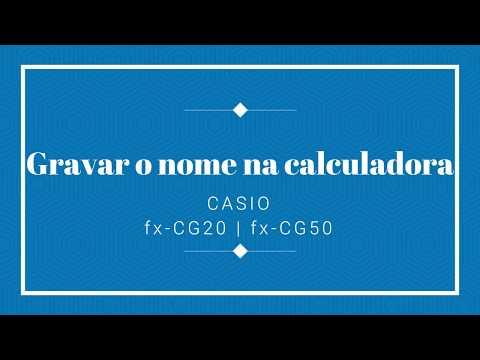 Guardar o nome do utilizador na calculadora CASIO