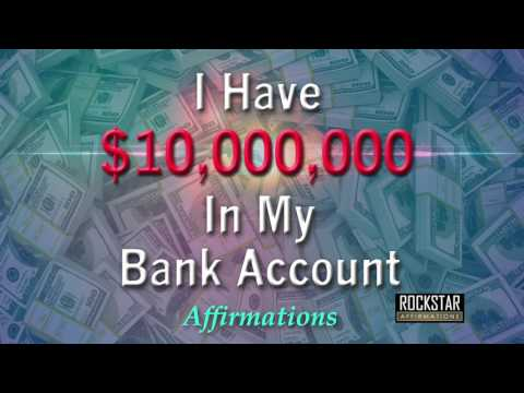 I Have 10 Million Dollars in My Bank Account - Abundance Mindset - Super-Charged Affirmations