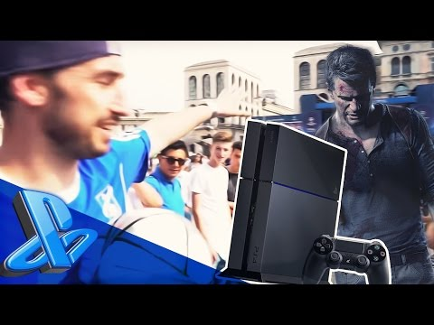 REGALANDO UNCHARTED 4 EN LA CHAMPIONS LEAGUE + GANA UNA PS4! | #RetoChampionsPS4