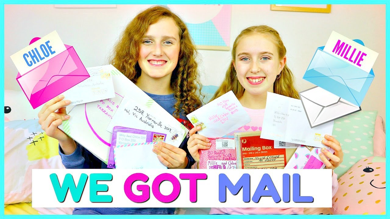 First Po Box Opening Millie And Chloe Youtube