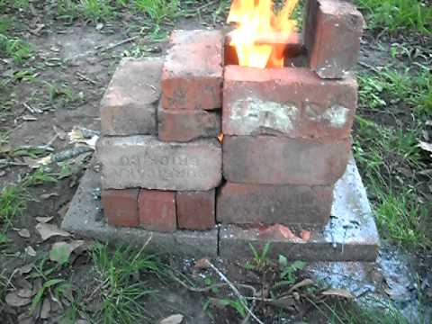16 1 2 Brick Rocket Stove 17 1 2 With The Backstop On Top
