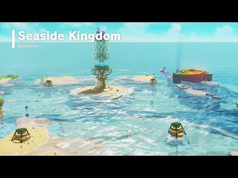 Super Mario Odyssey | Seaside Kingdom - All Power Moons & Shells