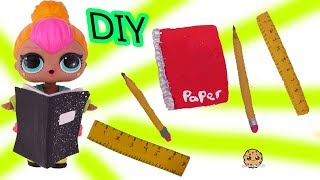 Easy DIY Back to School Supplies for LOL Surprise + Barbie Dolls - Craft Video
